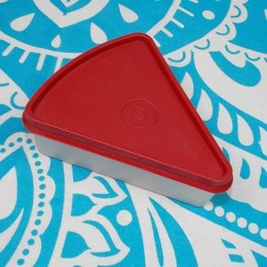 Vintage Tupperware Pie Slice Container Paprika Red